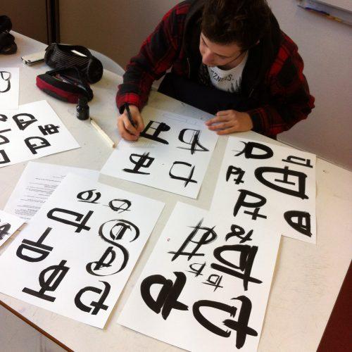 Atelier de calligraphie et monogrammes